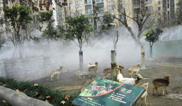 成都动物园大鹿苑喷雾除臭项目